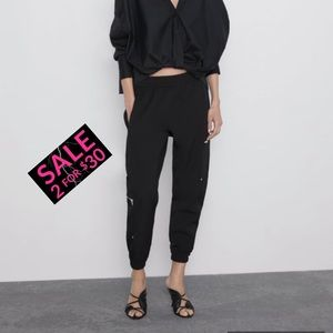 Zara cargo pants - black XS